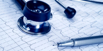 Stethoscope and EKG