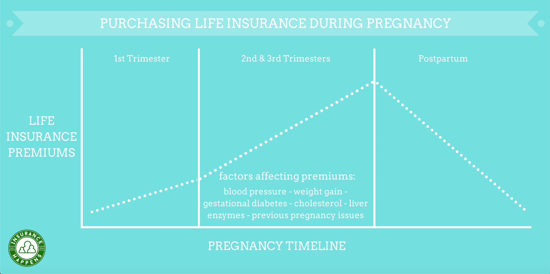 life insurance during pregnancy info graphic